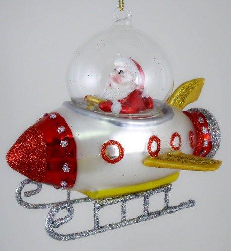 Amazon.com: Christmas Space Rocket Reindeer & Santa in Spaceship Glass  Ornaments, Set of 2: Health & Personal Care - Amazon.com: Christmas Space Rocket Reindeer & Santa In Spaceship