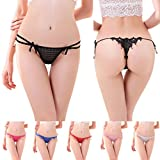 Baishitop Women Sexy Panties Strap Lace G-string Thongs Bikinis 1PC