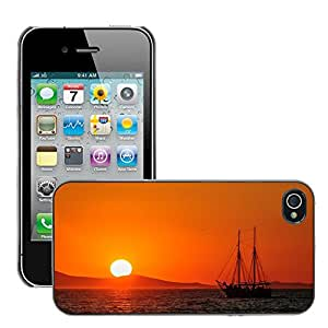 Super Stella Slim PC Hard Case Cover Skin Armor Shell Protection // M00421279 Abendstimmung Sunset Evening Sky // Apple iPhone 4 4S 4G