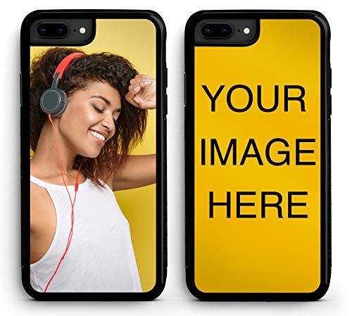 Custom iPhone 8 Plus Cases iPhone Cover iZERCASE [Personalized Custom Picture CASE] Make Your Own Phone Case (Black, iPhone 8 Plus) ()