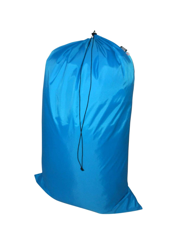 Laundry Bag Heavy Duty Jumbo Sized Nylon Holds Approximately 40 lb Made in USA. (Turquoise)