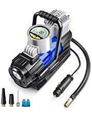 AstroAI Air Compressor AstroAI Digital Car Air Pump, 100 PSI 12V Electric Portable Digital Tire Inflator with Extra Nozzle Adaptors and Fuse for Car Bike Tires and Other Automobiles