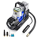 AstroAI Portable Air Compressor Pump, Digital Tire Inflator 12V DC Electric Gauge with Larger Air...