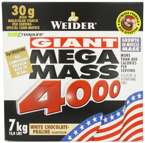 Weider Nutrition Mega Mass 4000 White Choc 7000g