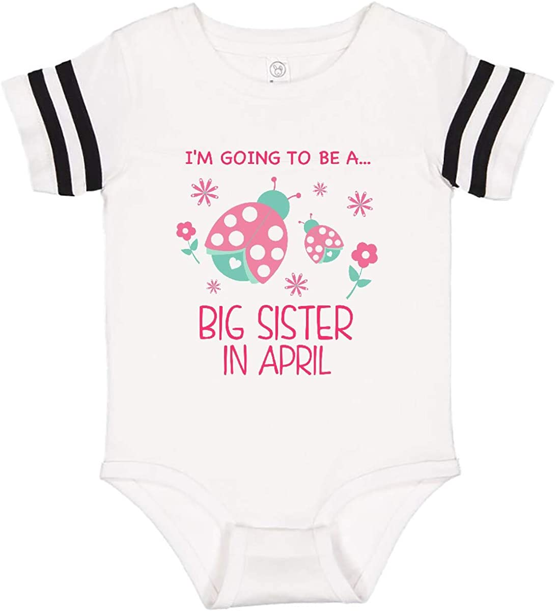 inktastic Im Going to Be a Big Sister in April Infant Creeper