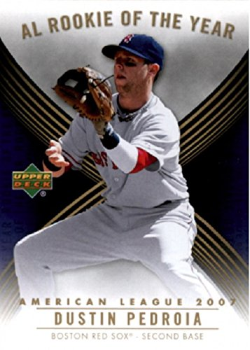2007 Upper Deck - MLB American League Rookie of the Year Dustin Pedroia Boston Red Sox Baseball Rookie Card RC #ROY-AL