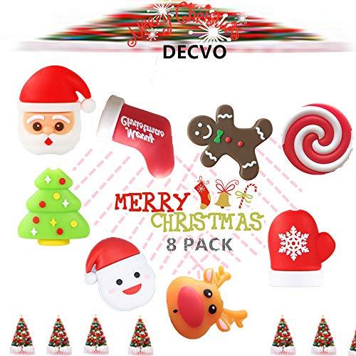 DECVO Cable Protector Compatible with iPhone iPad Android Samsung Galaxy Cable PVC Christmas Cute Phone Accessory USB Charger Data Protection 8 Pack Cover Chewers Earphone Cord Bites (8 Pack)