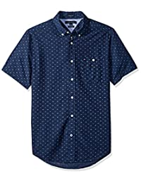 Tommy Hilfiger Mens Standard Curtis Print Short Sleeve Shirt