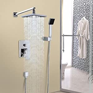 Rainfall shower head arm control valve handspray shower for Llaves para shower