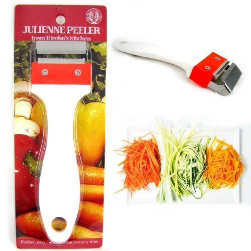 Kinpira Julienne Peeler Stainless Steel Vegetable Fruit Potato Cutter Slicer New by KINPIRA (Image #1)