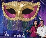 Mardi Gras Fringe Mask