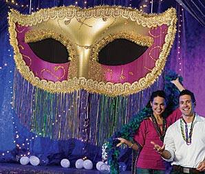 Mardi Gras Fringe Mask by Shindigz