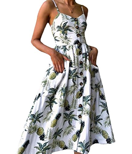 3 Sexy Casual Printed Slip Elegant Swing Party Coolred Dress Evening Women aqvwTcg