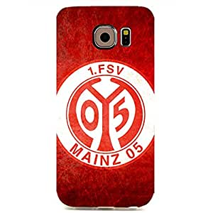 3D Forever Collection Football Club With White And Red Stripe Back Pattern Cover Case For Samsung Galaxy S6 Edge FSV Mainz 05 Football Club Logo Print Design For Ladys