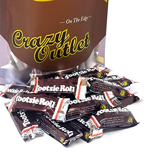 CrazyOutlet Pack - Tootsie Roll Snack Size Candy Bars, 0.5 Ounce - 2 Lbs ()