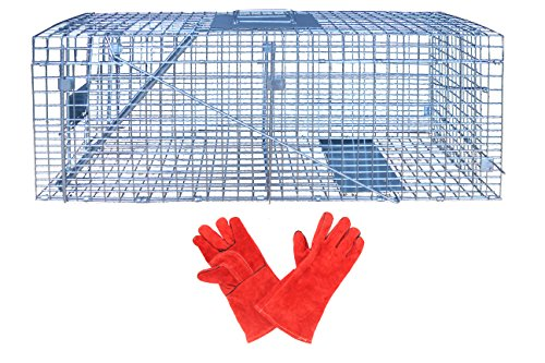 Senhoo Animal Cage Trap 10 x 32 x 12 in Catch Release Hum...