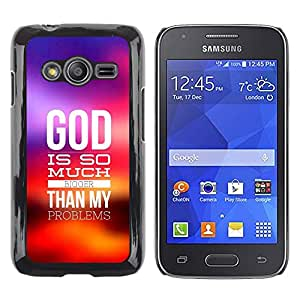 Paccase / SLIM PC / Aliminium Casa Carcasa Funda Case Cover para - BIBLE God Is Much Bigger - Samsung Galaxy Ace 4 G313 SM-G313F