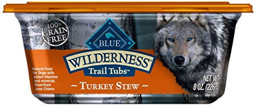 Blue Buffalo Wilderness Trail Tubs High Protein Grain Free, Natural Adult Wet Dog Food Tubs, Turkey Stew 8-Oz (Pack Of 8)