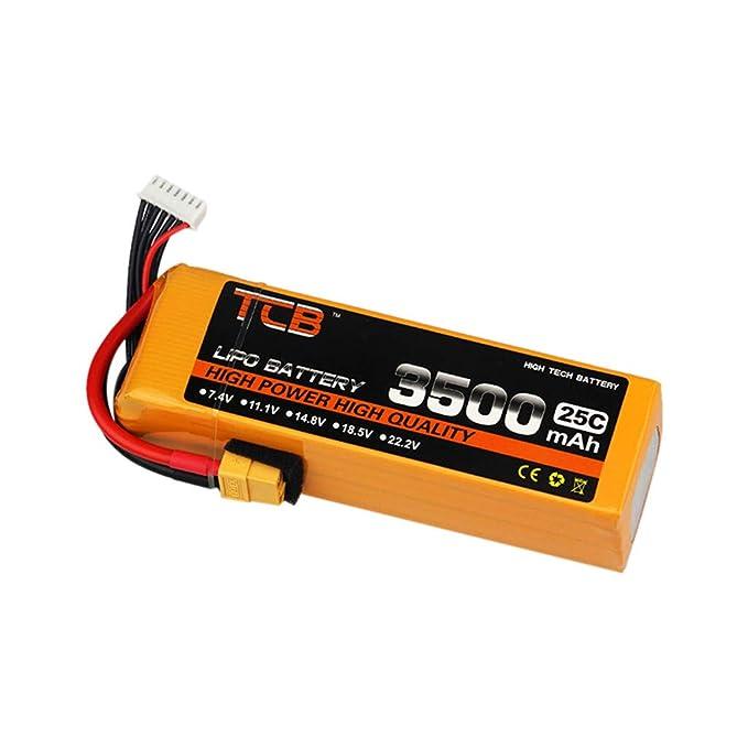 LCLrute TCB - Batería de 11,1 V 3500 mAh 3S-25C con Enchufe XT60 ...