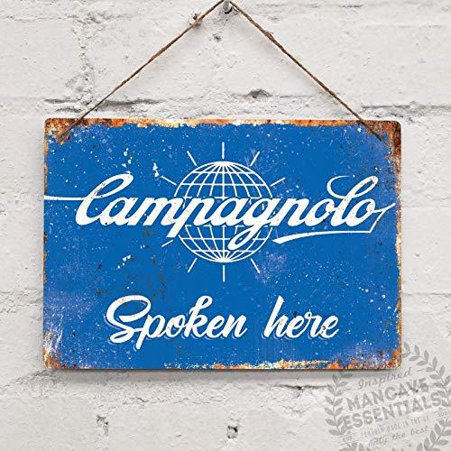 (Campagnolo Spoken Here Replica Vintage Bike Cycle Tin Sign Metal Sign TIN Sign 7.8X11.8 INCH)