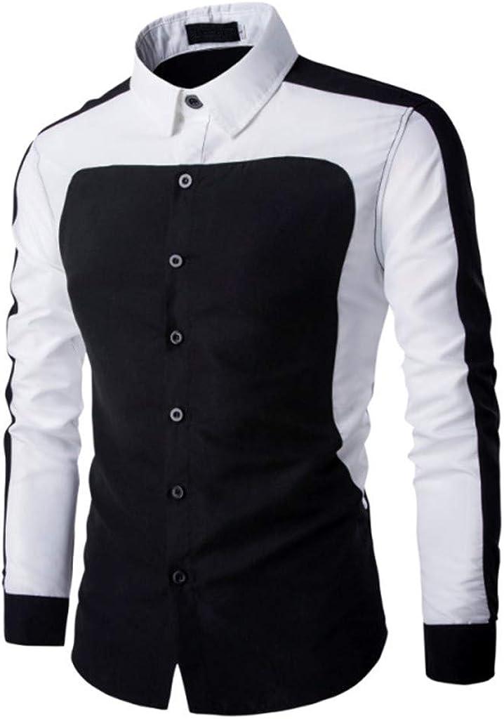 Camisetas Hombre,RETUROM Hombre Moda Camisas de Manga Larga Slim Tops Blusa Camiseta Slim fit Business Casual Camisas de Vestir Formales: Amazon.es: Ropa y accesorios