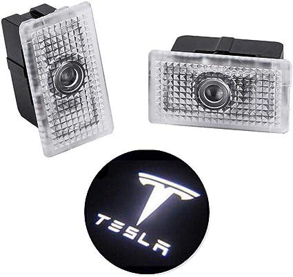 Foonee Tesla Modelo 3 Proyector de luz LED para Puerta de Coche ...