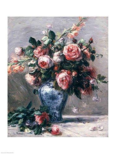 Renoir Roses Auguste Pierre - Vase of Roses by Pierre-Auguste Renoir Art Print, 20 x 26 inches
