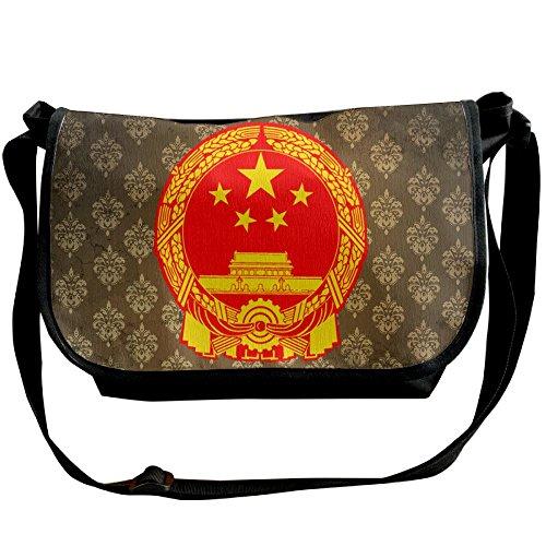 Lov6eoorheeb Unisex Coat Of Arms Of China Wide Diagonal Shoulder Bag Adjustable Shoulder Tote Bag Single Shoulder Backpack For Work,School,Daily by Lov6eoorheeb (Image #5)