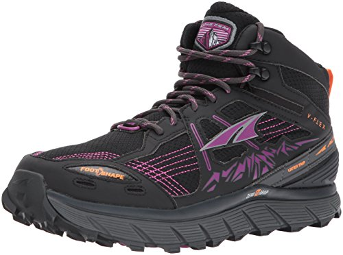 Altra Women's Lone Peak 3.5 Mid Mesh Running Shoe, Purple/Orange, 8.5 B US