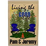 Happy Camper World Living The Good Life Personalized Weatherproof Campsite Flag (Tan Fabric, Blue) Review