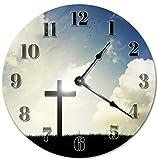 Sugar Vine Art 10.5'' HOLY CROSS Clock - Large 10.5'' Wall Clock - Home Décor Clock