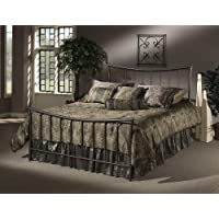 Hillsdale Furniture 1333BFR Edgewood Bed Set with Rails, Full, Magnesium Pewter