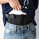 GVN-Belly-Band-Holster-Concealed-Carry-with-Magazine-Pouch-and-2-Elastic-Straps-Fits-Glock-19-17-42-43-P238-Ruger-LCP-Gun-Smith-and-Wesson-Bodyguard-1911-and-Similar-Sized-Guns