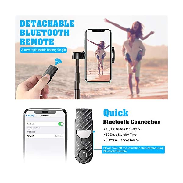 Bovon Bastone Selfie, Mini Estensibile 3 in 1 Selfie Stick Treppiede Smartphone con Telecomando Wireless Compatibile con… 3 spesavip