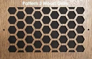 "14 x 12 Oak Wood Air Grille/Air Return. Pattern \""J\"". PC"