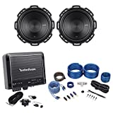 (2) Rockford Fosgate P1S4-10 Punch 10' 500 Watt Car Subwoofers+Mono Amp+Amp Kit