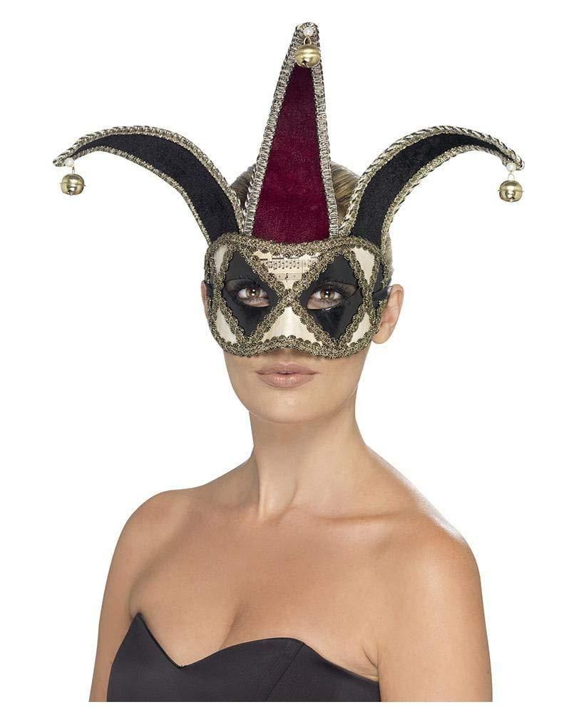 Horror-Shop Arlequín máscara para los ojos veneciana: Amazon.es: Juguetes y juegos