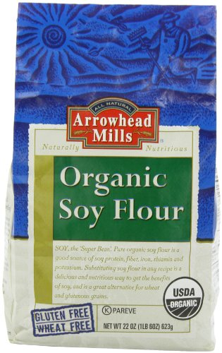 Arrowhead Mills Organic Soy Flour, 22 Ounce Bags (Pack of 6)