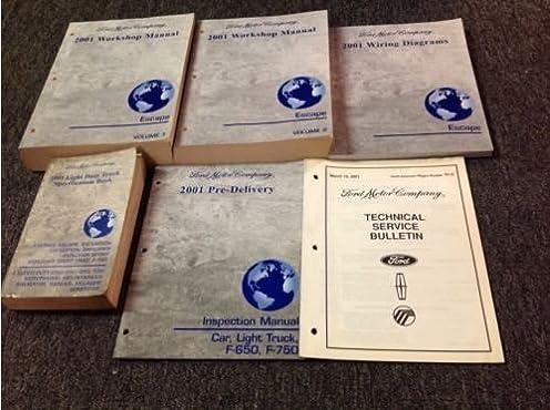 2001 ford escape service shop repair workshop manual set oem w ewd rh amazon com 2001 ford escape workshop manual download 2004 Escape