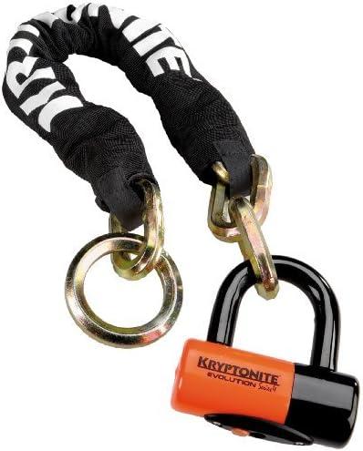 Kryptonite Bügelschloss New York Lock Bicycle Noose 1275 Chain With Evolution Serie 4 Disc Lock Lock Chain Bicycle 2 Foot X 4 Zoll Sport Freizeit