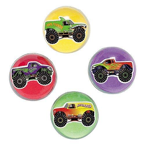 Fun Express Inc. Monster Truck Bouncing Balls (1 Dozen) - Bulk -
