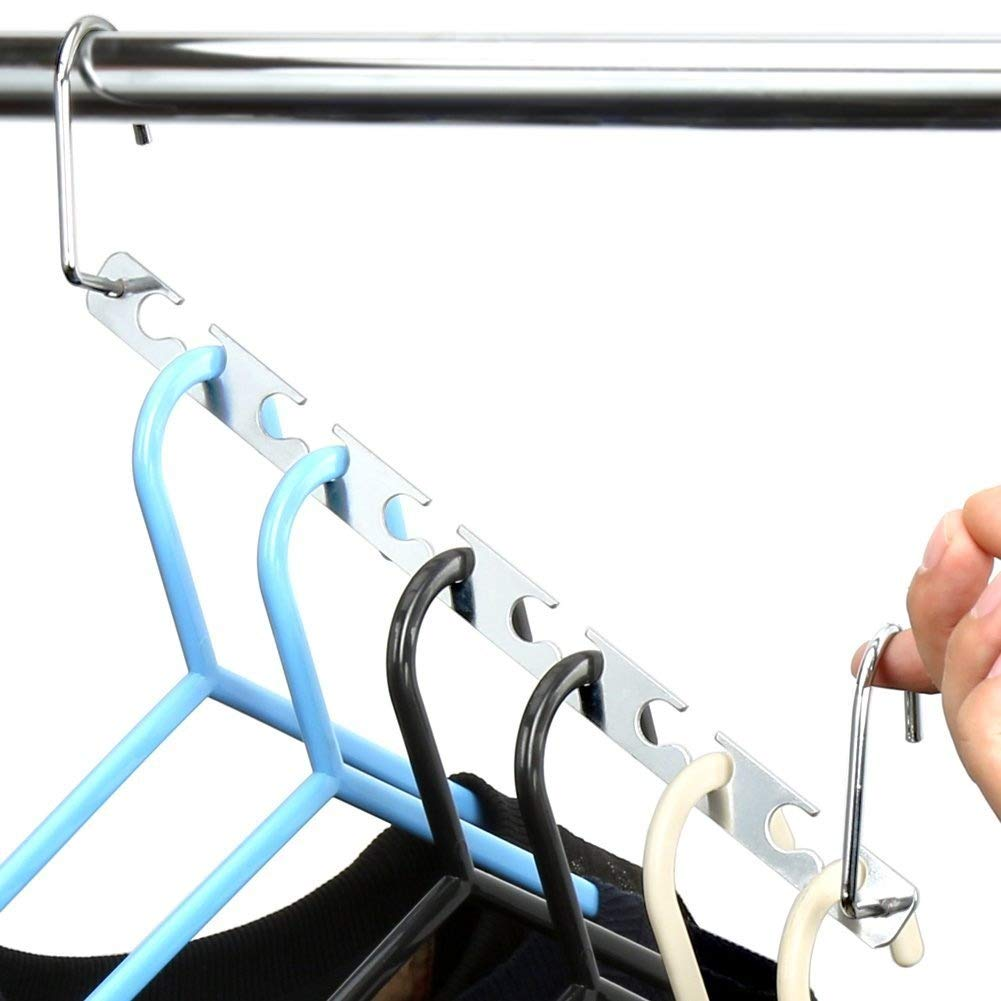H&S 6 Stü ck magische Wunderhaken fü r Kleiderbü gel zur Ordnung und Organisation von Kleidung H and S Alliance UK Ltd