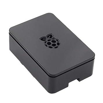 Biback Raspberry Pi3 Modelo B+ ABS Funda Negro Transparente ...