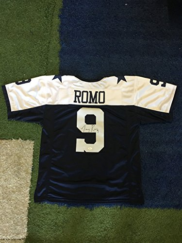 Tony Romo Back Jersey (Tony Romo #9 Signed Dallas Cowboys