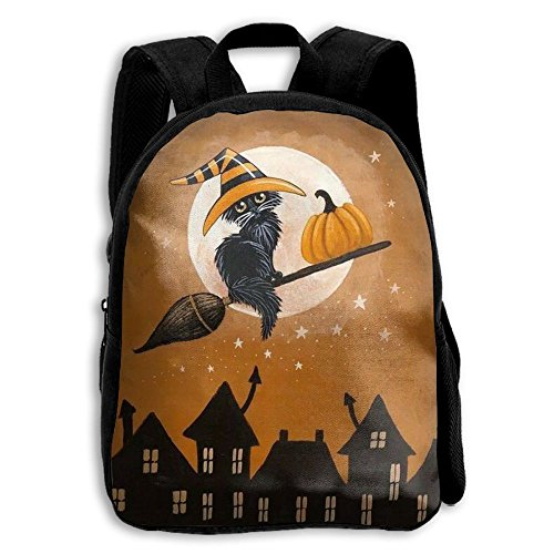 Kids Luff Halloween Cats Popular Printing Toddler Pre School Backpack Bags (Tidy Cats Halloween Litter)