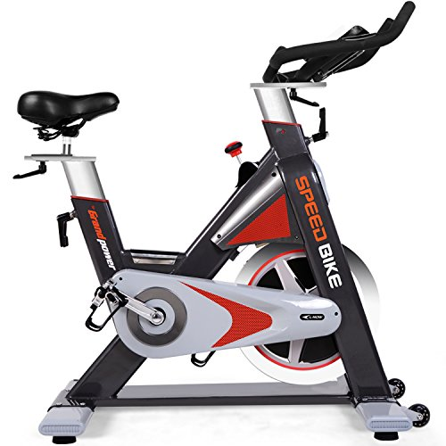L NOW LD-577 Commerical Quality Indoor Cycling Bike with LCD Monitor, 44lbs Flywheel For Fitness Studio and Professional Personal Use (Bright) (52