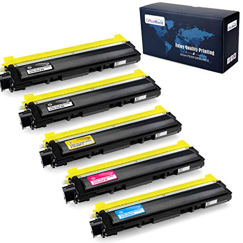 OfficeWorld Compatible Toner Cartridge Replacement for Brother TN210 TN-210 for Brother HL-3040CN HL-3070CW HL-3075CW MFC-9010CN MFC-9320CW MFC-9325CW DCP-9010CN (Black,Cyan,Magenta,Yellow, 5-Pack) ()
