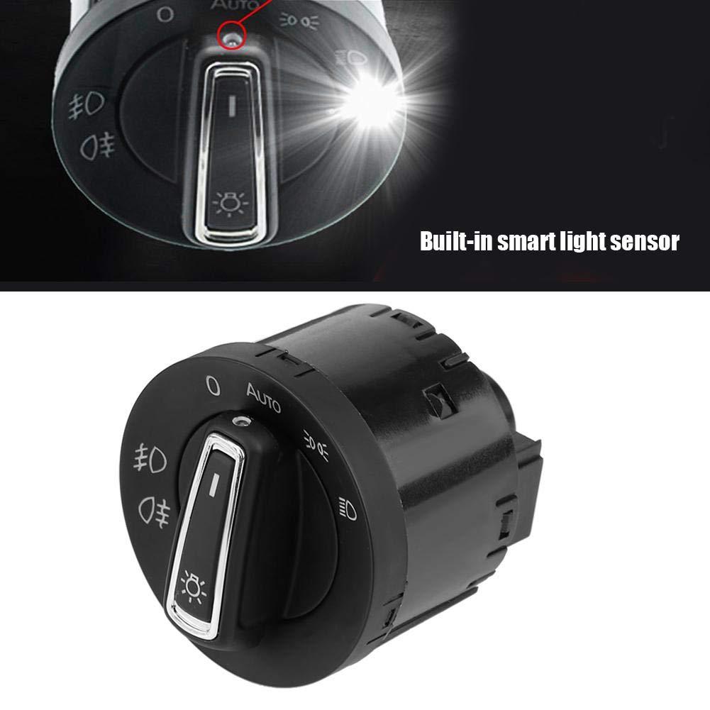 KIMISS Auto Scheinwerfer Lampe Schalter Taste Scheinwerfersteuerschalter