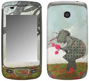 MusicSkins, MS-SHRP20248, Sharp Shirter - Flowers, LG Optimus T (P509), Skin