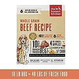 Honest Kitchen Human Grade Dehydrated Organic Grain Beef Dog Food, 10 lb